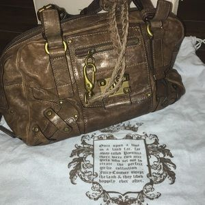 Juicy Couture Brown and Gold Shoulder Bag